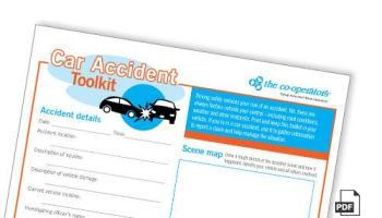 What to do at the scene of a car accident